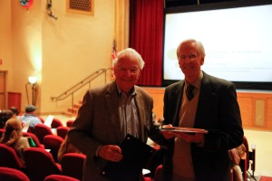 Patron of the Year, John O'Neal, with NCLAC Board President Peter Jones