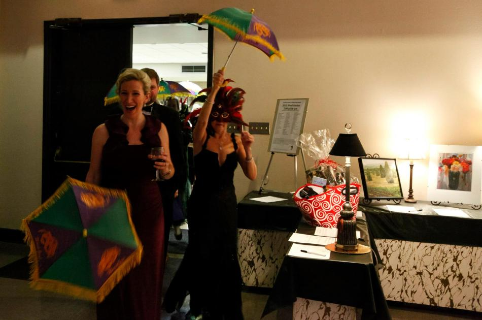 2nd Line at RCSS's Mardi Gras Ball and NCLAC's Silent Auction