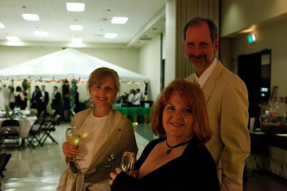 Scotland Stout, Celia Lewis and Julia Kaczvinsky at RCSS' Mardi Gras Ball and NCLAC's Silent Auction