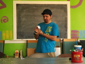 Matthew Knopps, teaching a workshop during Summer Arts Camps 2012