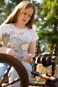 Rachel Johnston Spinning